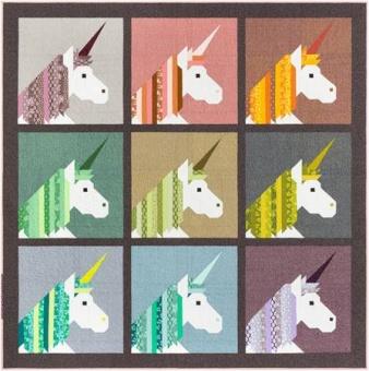 Lisa The Unicorn Pattern by Elizabeth Hartman - Patchworkdecke Einhorn  Schnittmuster