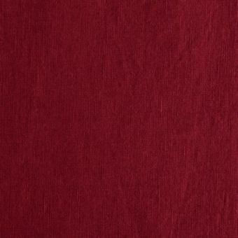 Roter Leinenstoff - Vorgewaschenes Reinleinen - Damiel Swafing Waschleinen