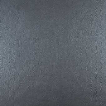 Rauchblaues dezent genarbtes, glattes Kunstleder - Veganes Metallic Lederimitat Meterware