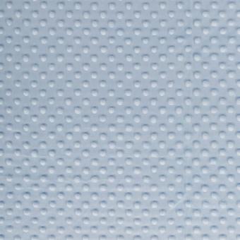 Kuschelzarter Minky Kuschelstoff - Baby Blue Dimple Dot Cuddle - ÜBERBREITE!