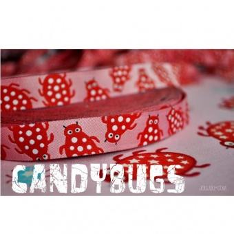 Candybugs Marienkäfer auf Rosa - Joliyou / Farbenmix Webband