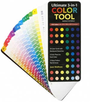 3 In 1 Color Tool - Farbfächer mit Farbrad & Farblehre - Creative Color Wheel