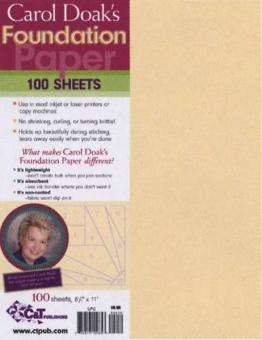 Carol Doak Foundation Sheets - Bedruckbares Papier für Paper Piecing Technik