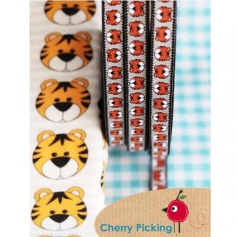 Silbernes Tiger Karl Webband - Cherry Picking Design / Farbenmix Webband