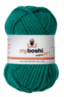 myboshi original No.1 Wolle - Trendsetter Häkelgarn!  Smaragd 123 (Emerald)