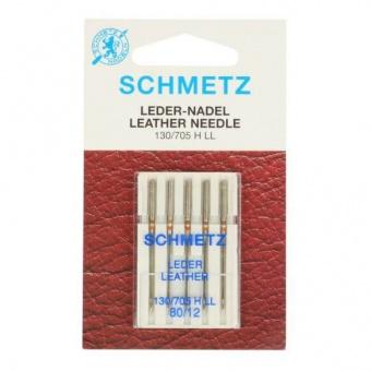 Leder Nähmaschinen-Nadeln - Ledernadeln - Nähmaschinennadeln No. 80 Schmetz 130/705 H LL