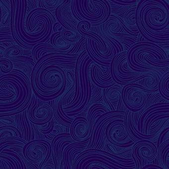 """Blauer """"Swirls"""" Baumwollstoff - Ton in Ton Patchworkstoff mit Schnörkeln in Grau - NAVY Just Color Basicstoffe by Elizabeth Studios Collection"""