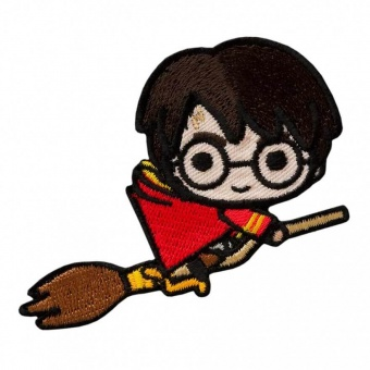 "Harry Potter Bügelapplikationen ""Kawaii Characters"" - Original Wizarding World J.K. Rowling's Collection Lizenz - Aufbügelbare Iron On Patches"