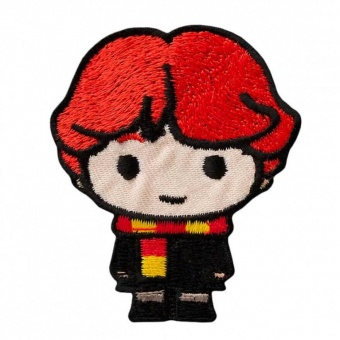 "Ron Weasley - Harry Potter Bügelapplikationen ""Kawaii Characters"" - Original Wizarding World J.K. Rowling's Collection Lizenz - Aufbügelbare Iron On Patches"