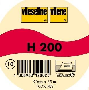 25m Rolle - H200 Vlieseline Freudenberg - Bügeleinlage - Schwarz oder Weiß
