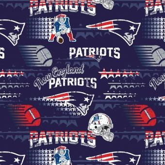 New England Patriots Motivstoff - Original NFL Lizenzstoff - American Football Meterware