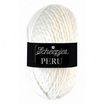 Peru Alpaka Grobstrick-Kuschelgarn - Scheepjes Strickgarne / Häkelgarne Wollweiß 110