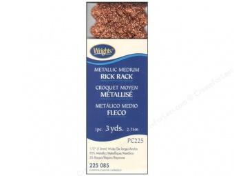 24 Farben Zackenlitze Medium Rick Rack 13mm  Copper / Kupfer