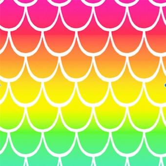 Regenbogenstoff mit Farbverlauf - Rainbow Waves Gradation - DIGITALDRUCK Patchworktstoffe