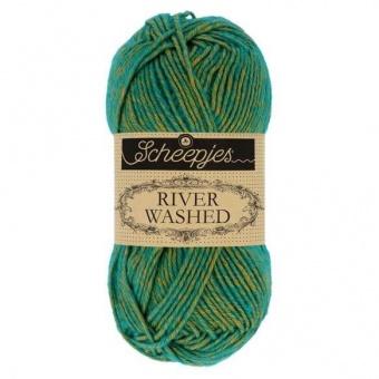 Scheepjes River Washed - ALLE FARBEN! Häkelgarn & Strickgarn mit 2-Tone Multicolor-Effekt #958 Tiber