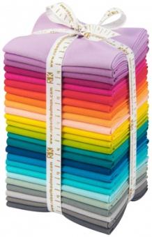 Elizabeth Hartman  Fat Quarter Stoffpaket - Kona Cotton Solids Unistoffe