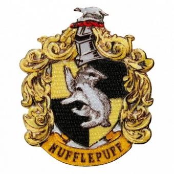 "Haus Hufflepuff Wappen - Harry Potter Bügelapplikationen ""Hogwarts House Crests"" - Original Wizarding World J.K. Rowling's Collection Lizenz - Aufbügelbare Iron On Patches"