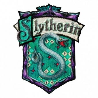 "Haus Slytherin Wappen - Harry Potter Bügelapplikationen ""Hogwarts House Crests"" - Original Wizarding World J.K. Rowling's Collection Lizenz - Aufbügelbare Iron On Patches"