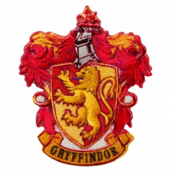 "Haus Gryffindor Wappen - Harry Potter Bügelapplikationen ""Hogwarts House Crests"" - Original Wizarding World J.K. Rowling's Collection Lizenz - Aufbügelbare Iron On Patches"