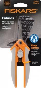 Gefederte Präzisionsschere - Fiskars Easy Action Fadenschere / Stoffschere mit Soft Grip