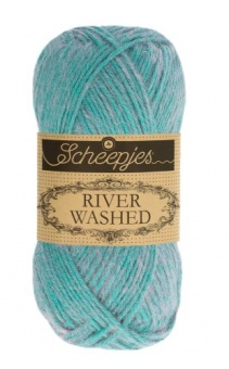 Scheepjes River Washed - ALLE FARBEN! Häkelgarn & Strickgarn mit 2-Tone Multicolor-Effekt #950  Wheaton