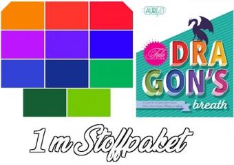 "Tula Pink's ""Dragon's Breath"" Mythical Designer Solids Unistoffe - 11 x 1m  Patchworkstoffe - Ganze Meter Stoffpaket"