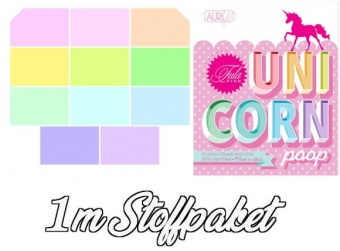 "Tula Pink's ""Unicorn Poop"" Mythical Designer Solids Unistoffe - 11 x 1m  Patchworkstoffe - Ganze Meter Stoffpaket"