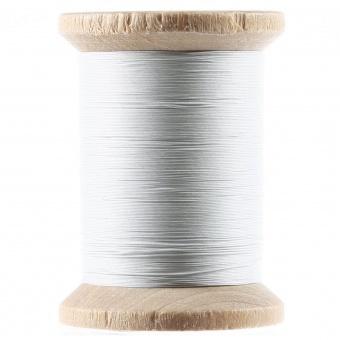 Yli Quilting White / Weiß - Gewachstes Handquiltgarn auf der Holzspule - 500 yards / 455m - Cotton Hand Quilting Thread 3-Ply Extra Long Staple Egyptian Cotton