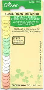 Flower Head Pins by Clover - 20er / 100er - Diverse Stärken Blumenkopfstecknadeln