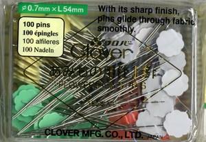 Flower Head Pins by Clover - 20er / 100er - Diverse Stärken Blumenkopfstecknadeln  100er Universal / Bunt