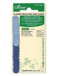 Flower Head Pins by Clover - 20er / 100er - Diverse Stärken Blumenkopfstecknadeln  20er Mittel / Blau