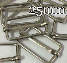 25mm Vierkant - Rechteckiger Metall-Ring Verstellschieber / Leiterschnalle / Stegschnalle