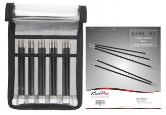KnitPro Karbonz - Deluxe Set - Nadelspiele 8 Inch / 20cm
