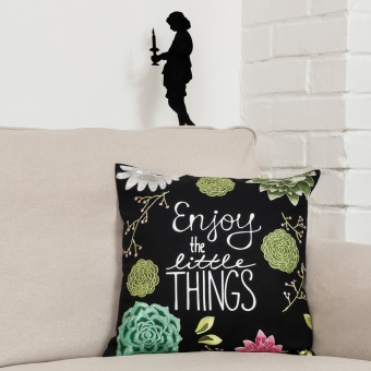 """Simy's Studio Stickpackung Kissen  """"Enjoy the little Things"""""""