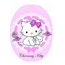 Hello Kitty Charmmy Rosa Flicken Bügelapplikationen - Original Sanrio