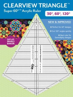 Super 60 Clearview Triangle Ruler - 30°, 60° 120° Lineal - Marci Baker - SONDERBESTELLUNG