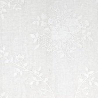 """Blütenranken & Blumenstäuße - Weiß Ton in Ton - Überbreiter Rückseitenstoff 108"""""""