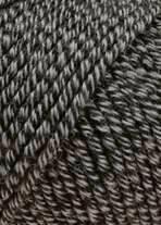Merino 120 Strickgarn - VIELE FARBEN! Merinostrickgarn - Lang Yarns Häkelgarn Merino Fine Superwash Schwarz / Grau Mouliné # 0050