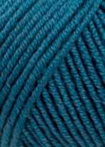 Merino 120 Strickgarn - VIELE FARBEN! Merinostrickgarn - Lang Yarns Häkelgarn Merino Fine Superwash Stahlblau # 0133