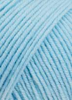 Merino 120 Strickgarn - VIELE FARBEN! Merinostrickgarn - Lang Yarns Häkelgarn Merino Fine Superwash Eisblau # 0173