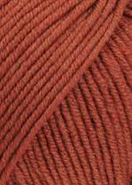 Merino 120 Strickgarn - VIELE FARBEN! Merinostrickgarn - Lang Yarns Häkelgarn Merino Fine Superwash Ziegel # 0187