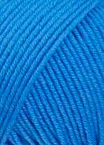 Merino 120 Strickgarn - VIELE FARBEN! Merinostrickgarn - Lang Yarns Häkelgarn Merino Fine Superwash Mittelblau # 0206