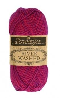 Scheepjes River Washed - ALLE FARBEN! Häkelgarn & Strickgarn mit 2-Tone Multicolor-Effekt #942  Steenbras