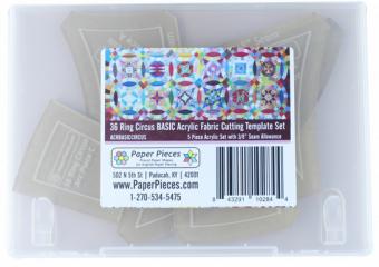 36 Ring Circus Basic Acrylschablonen - Paper Pieces BOM Quilt Along Acrylic Templates von JoAnne Louis