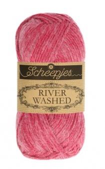 Scheepjes River Washed - ALLE FARBEN! Häkelgarn & Strickgarn mit 2-Tone Multicolor-Effekt #943 Mekong