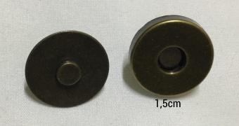 Magnetverschluss für Taschen altgold 1,5cm