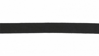 10mm schwarzes Baumwollband - Black Twill Cotton Tape 1cm
