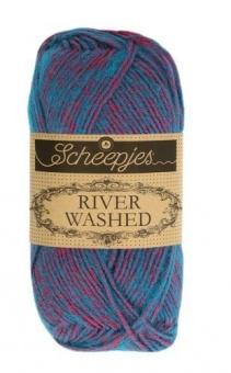 Scheepjes River Washed - ALLE FARBEN! Häkelgarn & Strickgarn mit 2-Tone Multicolor-Effekt #941   Colorado