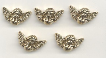 Knopfset Goldene Engel