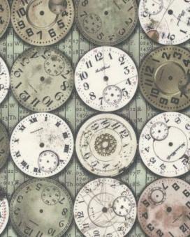 Ziffernblätter / Uhrenstoff - Multi Time Pieces - Tim Holtz Eclectic Elements